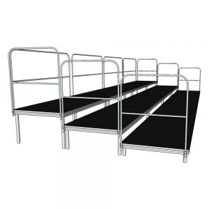 6x4m Tiered Stage Package Anti Slip