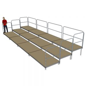 Tiered Stage Seating 8m x 3m
