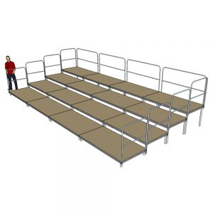 Tiered Stage Seating 8m x 4m