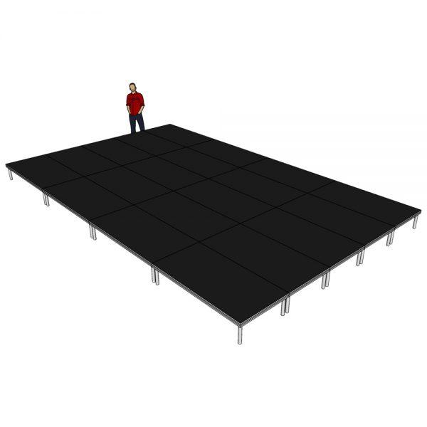 Stage Deck System 8m x 5m x 400mm