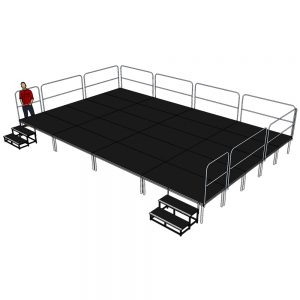 Stage Deck System 8m x 5m x 600mm