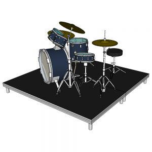 Drum Riser Stage 2m x 20cm