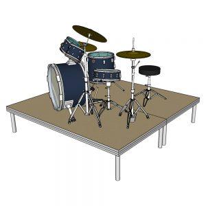 Drum Riser 2m x 2m x 40cm Stage Deck