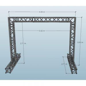 4x3 Video Wall Truss Dimensions