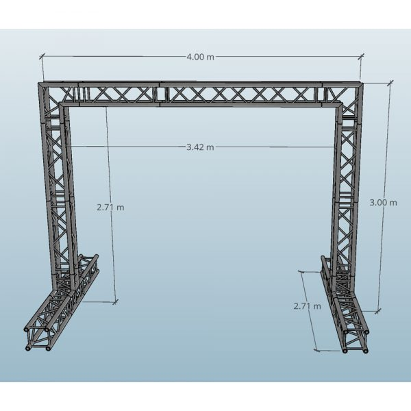 4x3 Video Wall Truss Dimensions