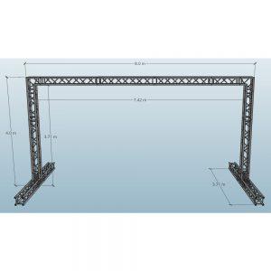 8x4m Video Wall Truss Dimensions
