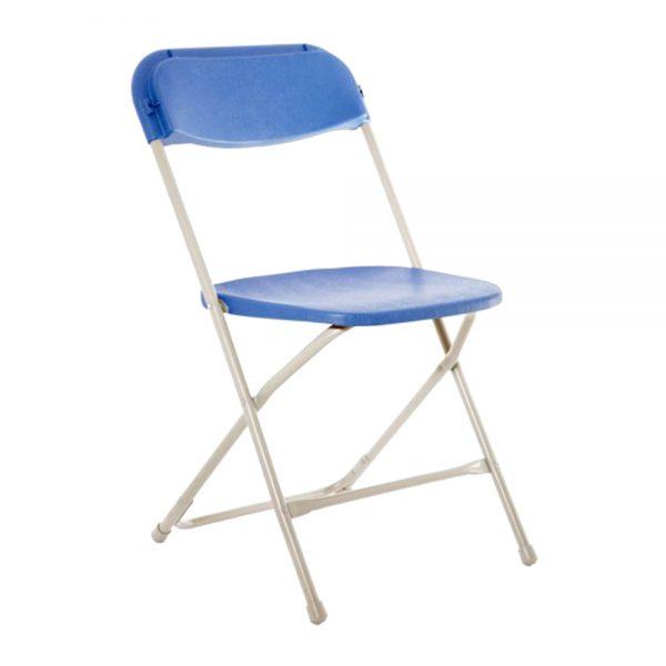 Blue Plastic Folding Chair