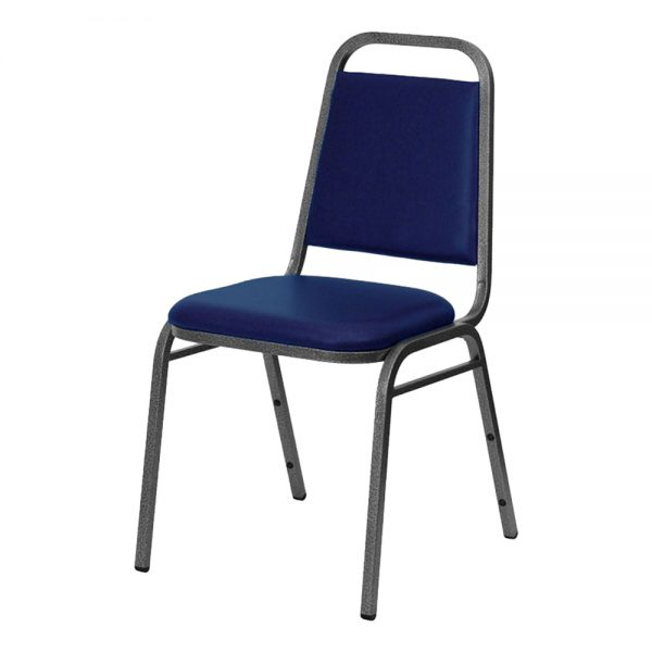 Blue Vinyl Stacking Chair