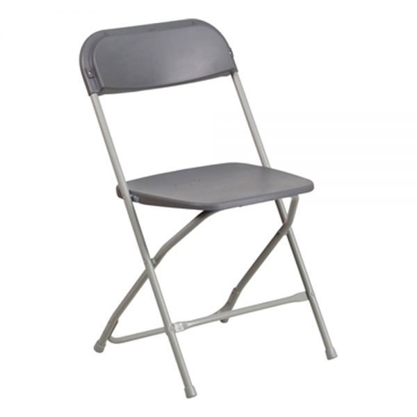 Grey Plastic Folding Chair