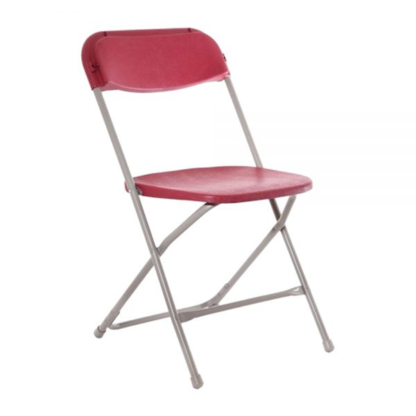 Red Plastic Folding Chair