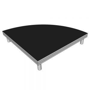 1x1 Stage Deck Quarter Circle 20cm High