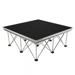 Alustage 1x1m Spider Stage with Black Carpet