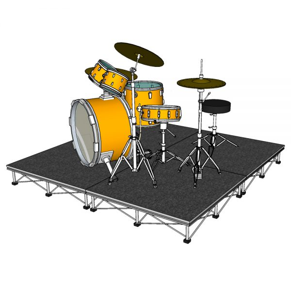 Folding Drum Riser with Carpet Top