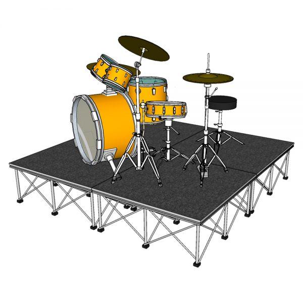 Drum Riser Stage 2m x 2m Carpet