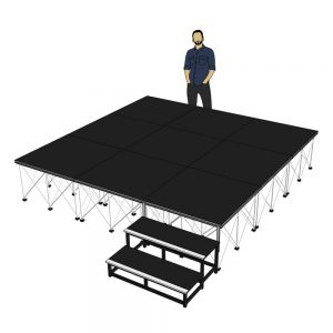 Portable Stage 3m x 3m x 600mm