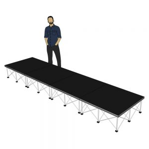 Portable Stage 4m x 1m x 400mm