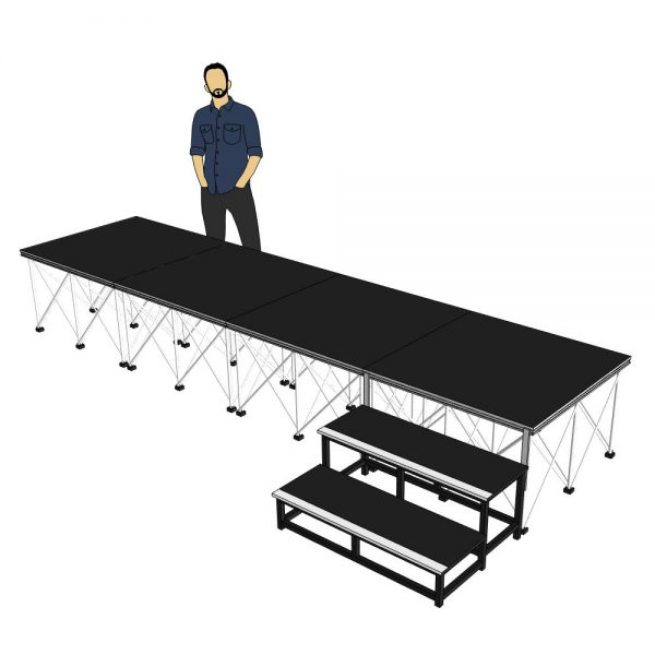 Portable Stage 4x1m x 600mm