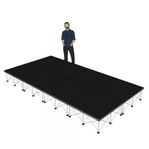 Portable Stage 4m x 2m x 400mm
