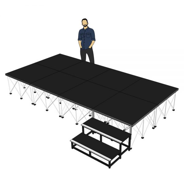Portable Stage 4m x 2m x 600mm