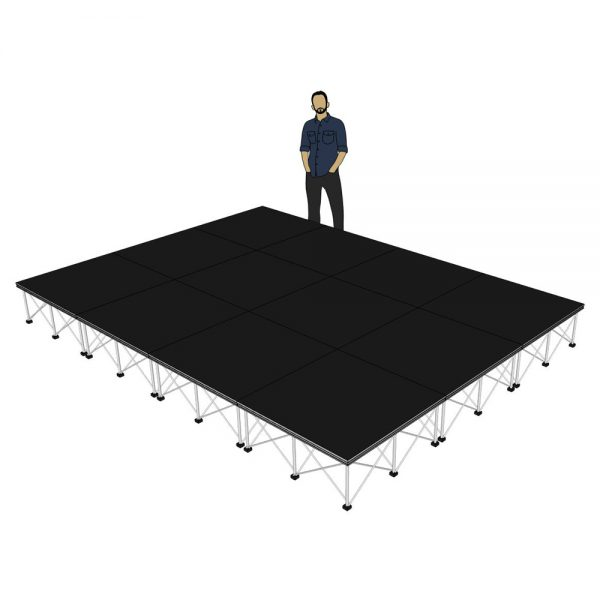 Portable Stage 4m x 3m x 400mm