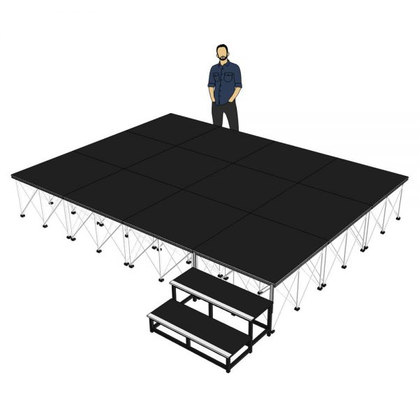 Portable Stage 4m x 3m x 600mm