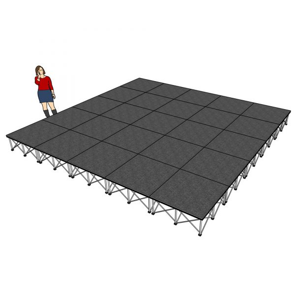 lightweight stage risers