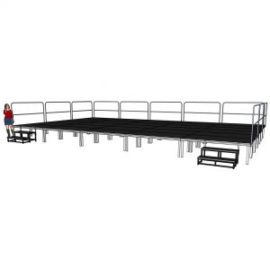Large concert stage systems with legs