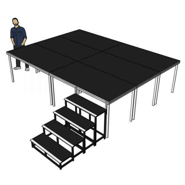 mobile stage platform