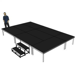 collapsible stage platform