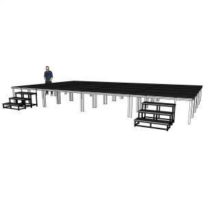 aluminium stage deck