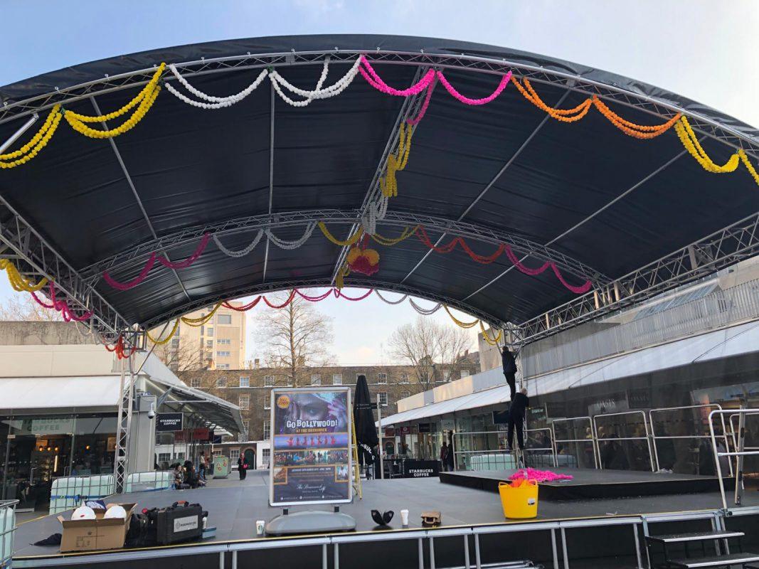 Brunswick Centre Festival Stage Build