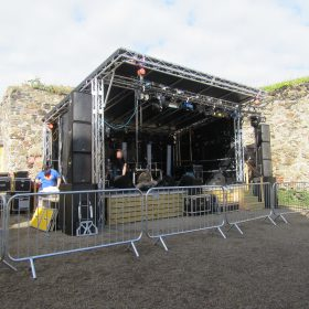 Outdoor stage roof system 6x4m