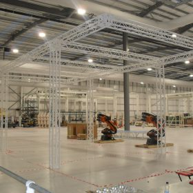 Assembly Bay Truss System in White