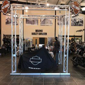 Harley Davidson Truss Display