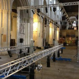 St Albans Fashion Week Truss Lighting Catwalk