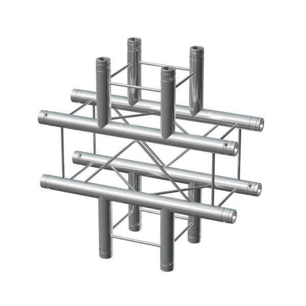 BeamZ Pro P24-C41 DECO Truss 4 Way X Junction Inc. Connectors
