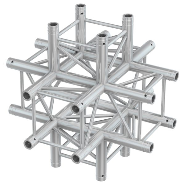 BeamZ Pro P30-C60 Aluminium Truss 6 Way X Junction 0.5m