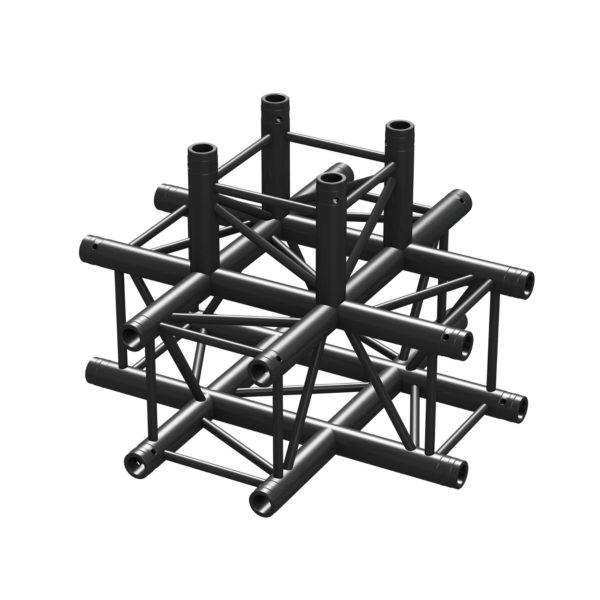BeamZ Pro P30-C55 Stage Truss 5 Way X-junction Black
