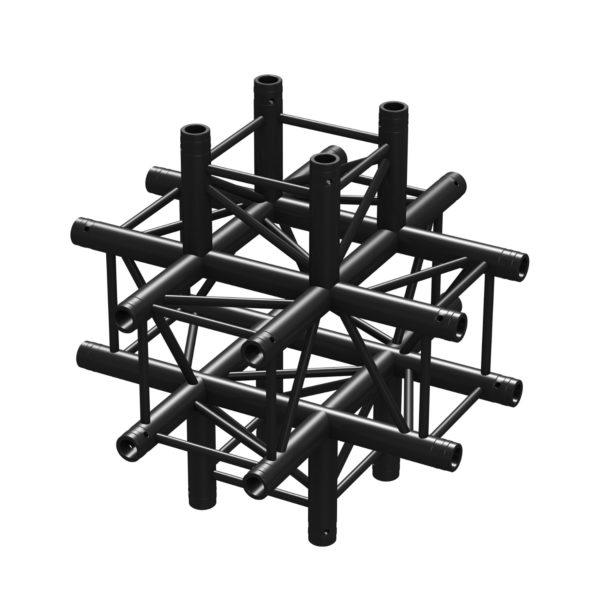 BeamZ Pro P30-C60 Stage Truss 6 way X-junction Black